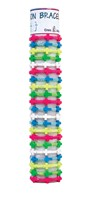 3 Neon Cross Adjustable Slide-Knot Bracelet Assorted With Tube & Base