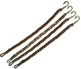 Fish Hook 2-Tone Braided Leather Bracelet Assorted