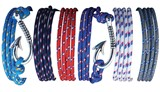Fish Hook Paracord Bracelet Assorted