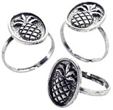 Antique Pineapple Pendant Adjustable Ring