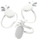 Matte Finish Pineapple Adjustable Ring
