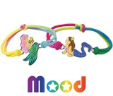 Mermaid Mood Bracelet on Stretch Tie Dye Cord Assorted