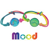 Dolphin Mood Bracelet on Stretch Tie Dye Cord Assorted