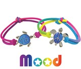 Sea Turtle Mood Pendant on Tie Dye Stretch Bracelet Assorted