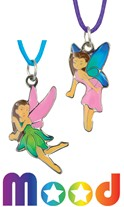Fairy Mood Pendant on Color Cord Necklace Assorted