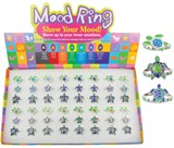 Adjustable Sea Turtle Mood Rings Assorted (48 Rings Pre-Packed in Box)
