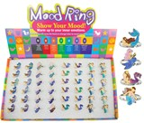 Adjustable Mermaid Mood Rings Assorted (48 Rings Pre-Packed in Box)