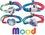 Assorted Unicorn Mood Bracelet on Stretch Tie Dye Cord Assorted
