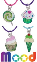 Cup Cake Ice Cream Candy Mood Necklace Assorted
