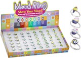 Adj Cup Cake Ice Cream Candy Mood Rings Assorted (48 Rings Pre-Packed in Box)