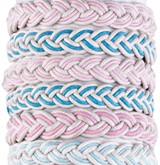 Color Cotton Cord Adjustable Slide-Knot Bracelet Assorted