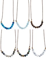 6MM Stone Bead Necklace Assorted
