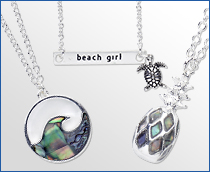 Silver Beach Pendants