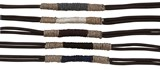 2-Strand Natural Color Hemp Leather Bracelet (A) Assorted
