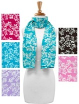 Sea Turtle Print Rayon Scarf Assorted