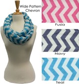 Wide Chevron Viscose Infinity Assorted
