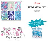 Head Wrapz Nautical Patterns Half Size Assorted Colors