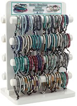 White Washed 2 Sided 216 Piece Bracelet Display (Does Not Include Merchandise)