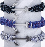 Anchor Solid Paracord Bracelet Assorted (B)