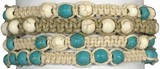 6MM Howlite Beads Adjustable Slide Knot Bracelet (A) Assorted