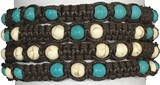6MM Howlite Beads Adjustable Slide Knot Bracelet (B) Assorted