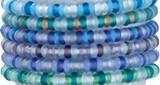 Mini Glass Bead on Natural Cord Slide Knot Bracelet Assorted