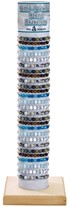 6MM Stone Bead Adjustable Slide-Knot Bracelet (A) Assorted With Tube & Base