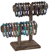 2-Tier Wood Bracelet Display (Does Not Include Merchandise)