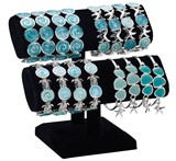 2-Tier Black Velvet Bracelet Display (Does Not Include Product)