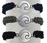 Wave Solid Paracord Bracelet Assorted (A)