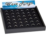 36 Piece Black Ring Tray (Does Not Include Merchandise)